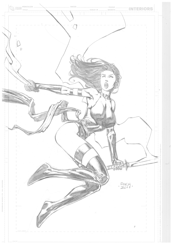 Psylocke - Finch Comic Art
